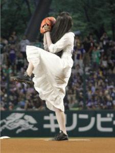 貞子 始球式